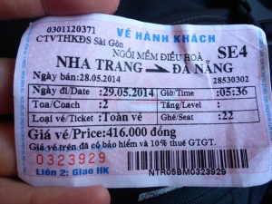Train ticket vietnam